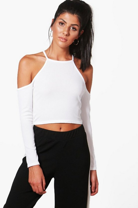 Lily Cold Shoulder Rib Top