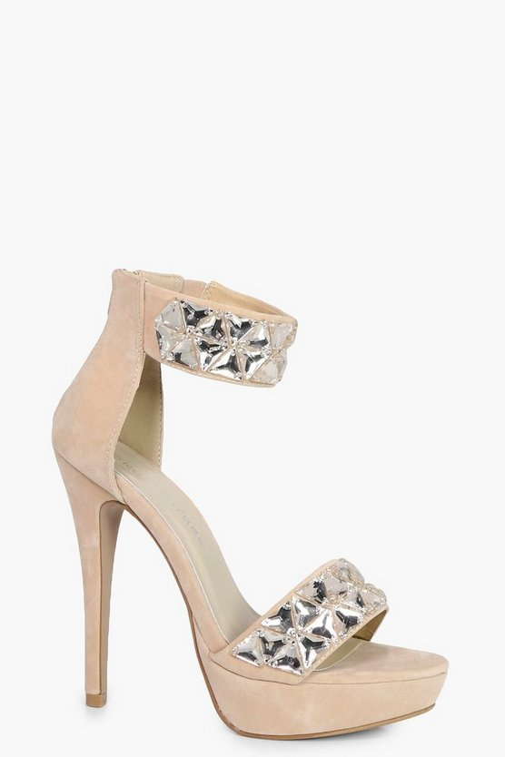 Jasmine Embellished Two Part Platform