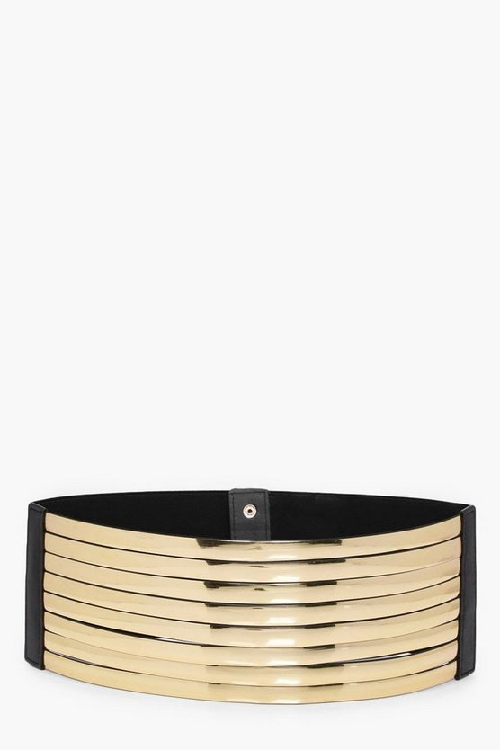 Erin Metallic Layered Waist Belt