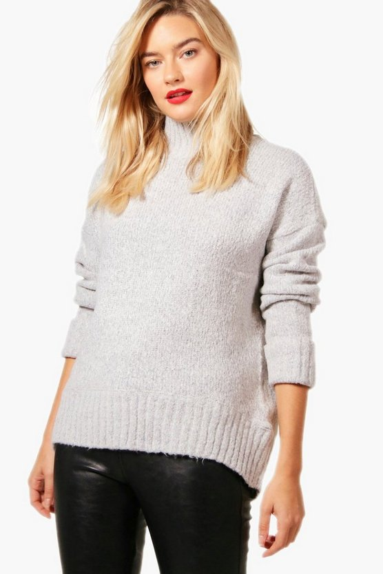 Natalie Soft Knit Funnel Neck Jumper