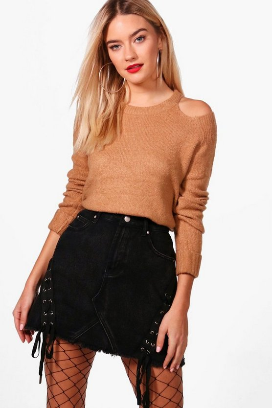 Olivia Soft Knit Cold Shoulder Jumper