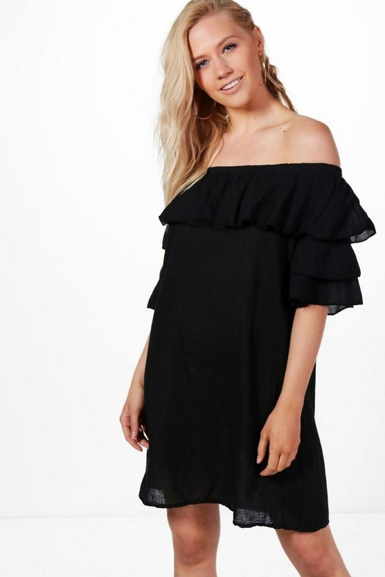 Amelia Ruffle Off Shoulder Dress