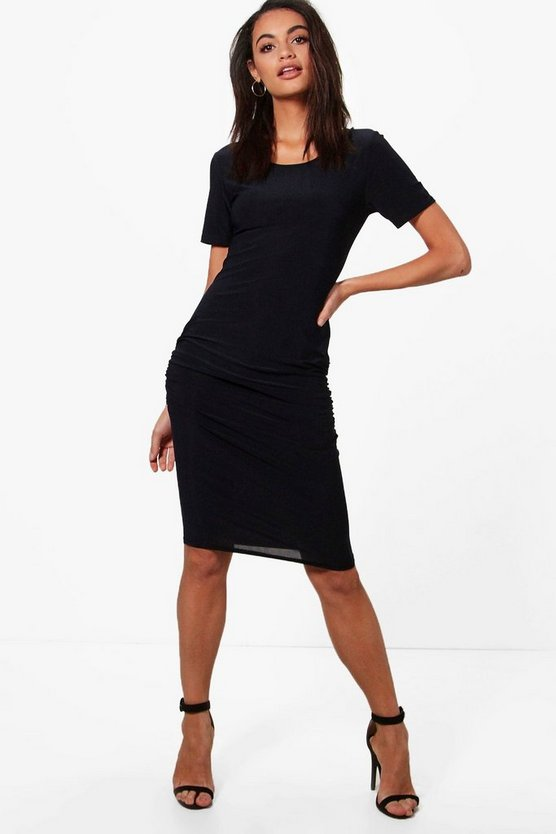 Eva Gathered Midi Dress