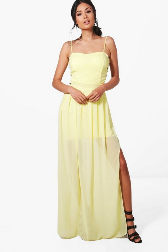 Hollie Strappy Side Maxi Dress