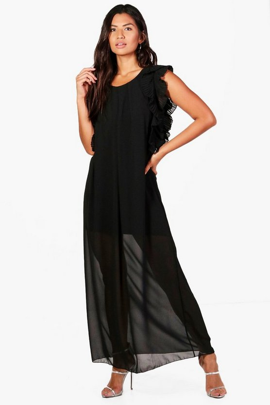 Ella Ruffle Sleeve Maxi Dress