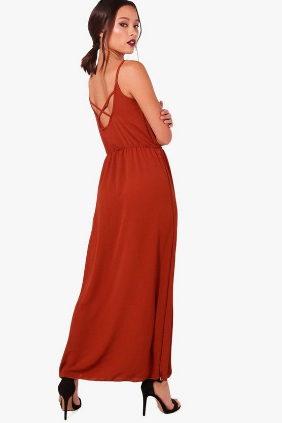 Helena Strappy Back Maxi Dress