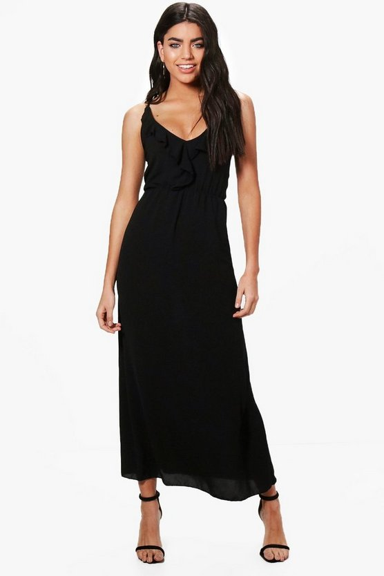 Ruby Ruffle Wrap Front Maxi Dress