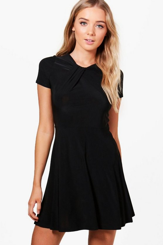 Molly Wrap Detail Skater Dress