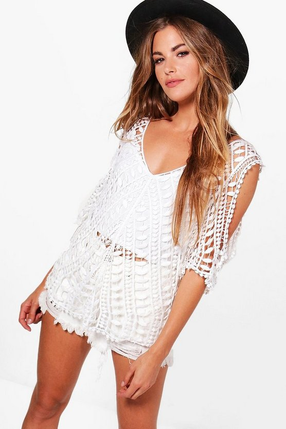 Grace Cold Shoulder Crochet Top