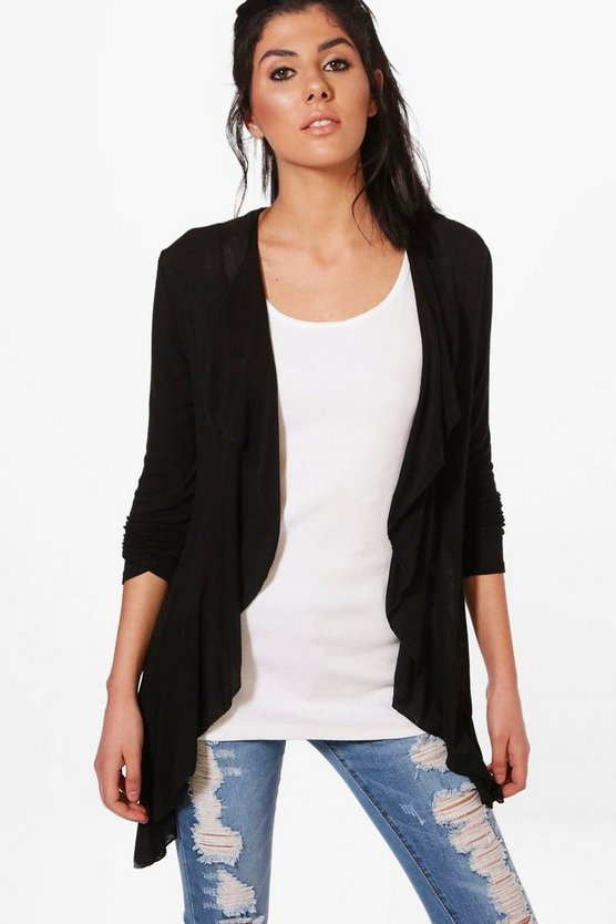 Alice Fine Knit Waterfall Cardigan