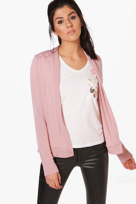 Jessica Edge To Edge Fine Knit Cardigan