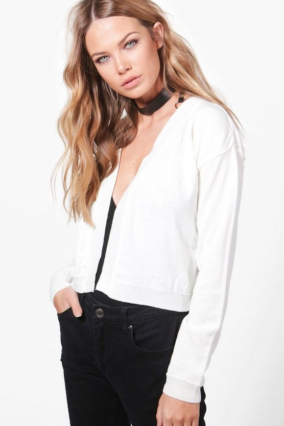 Amanda Fine Knit Crop Cardigan