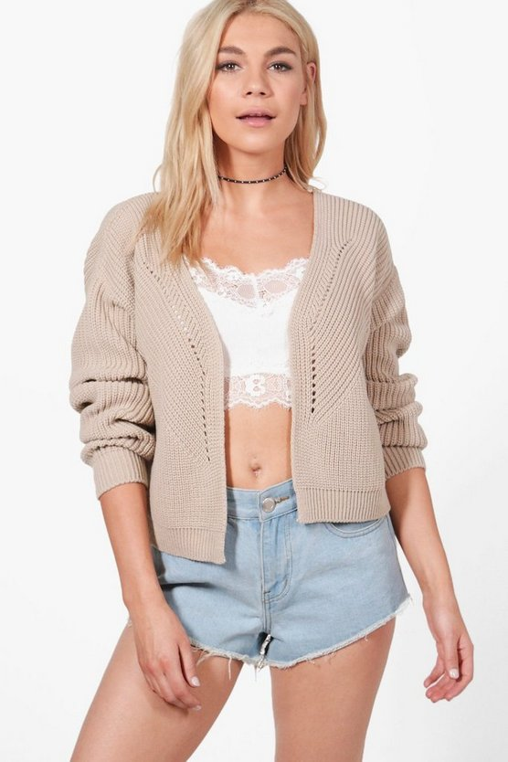 Harriet Rib Stitch Edge To Edge Cardigan