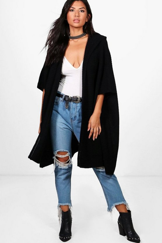 Lucy Hooded Cape Cardigan