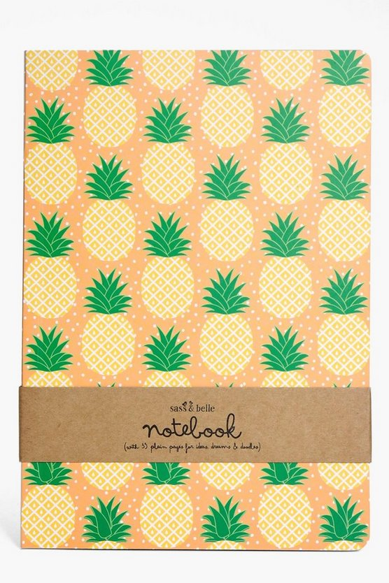 Tropical Pineapple A5 Notebook