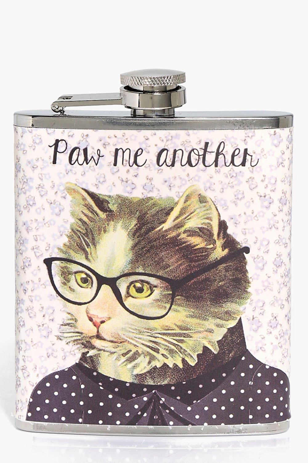 Me Another Hip Flask - multi - Paw Me Another Hip