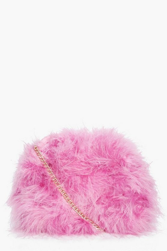 Lucy Marabou Fur Cross Body Bag