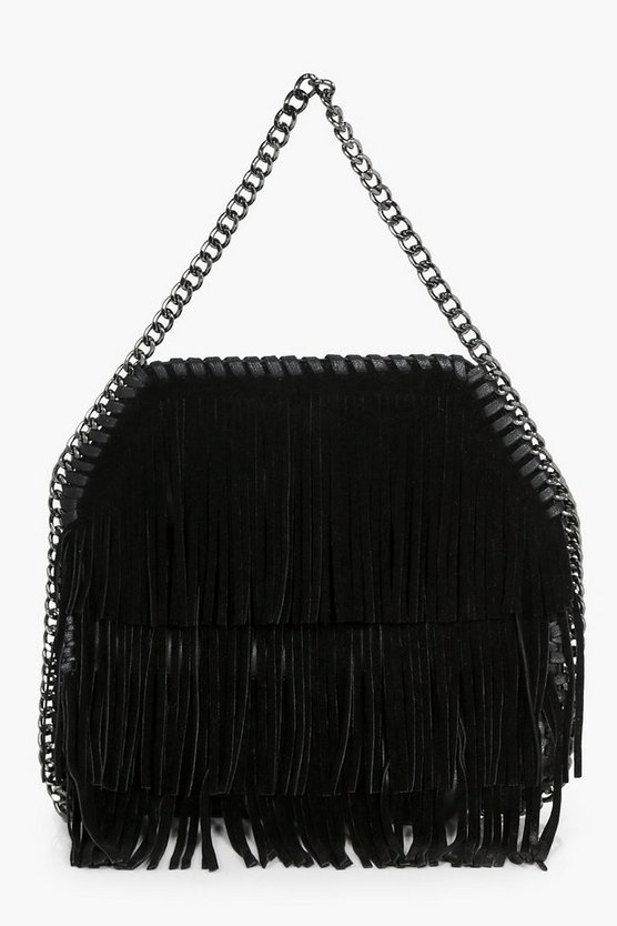 Isla Fringe & Chain Cross Body Bag