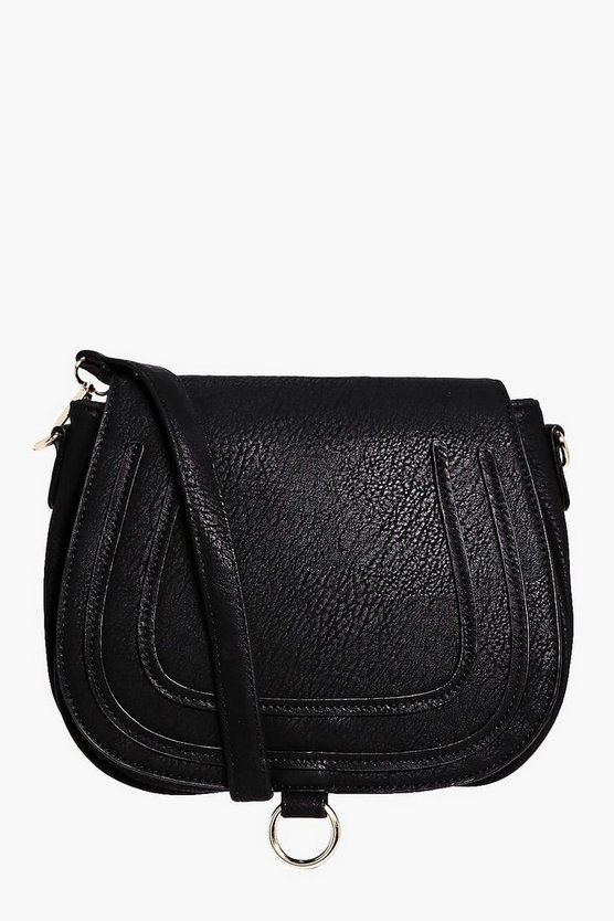 Isabelle Emboss & Ring Saddle Cross Body