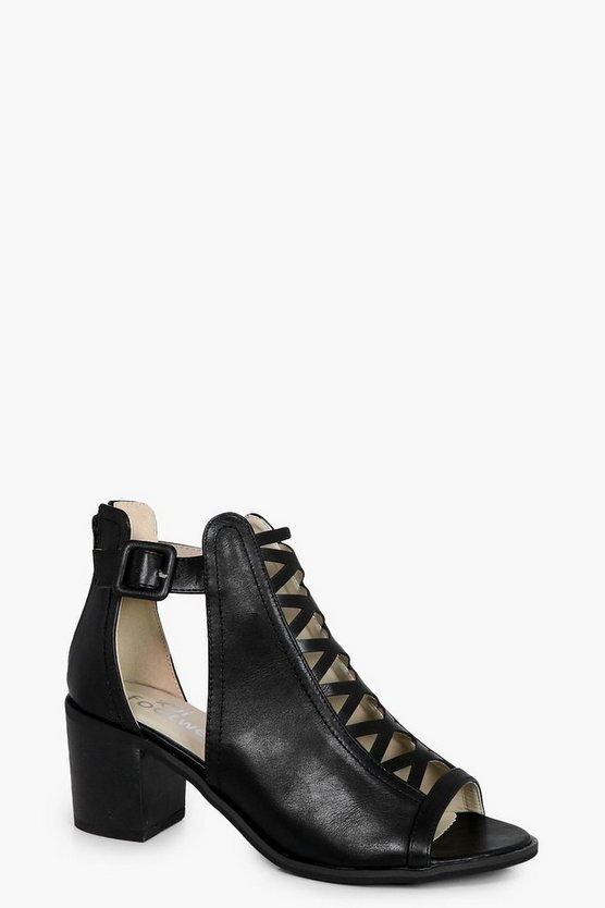 Evie Cross Front Peeptoe Shoe Boot