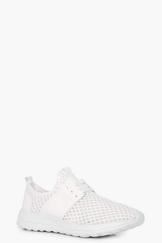 Leah Knitted Lace Up Trainer