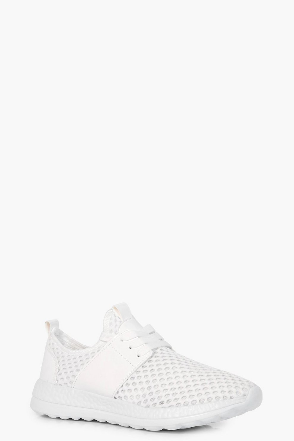 Leah Knitted Lace Up Trainers kocQgU