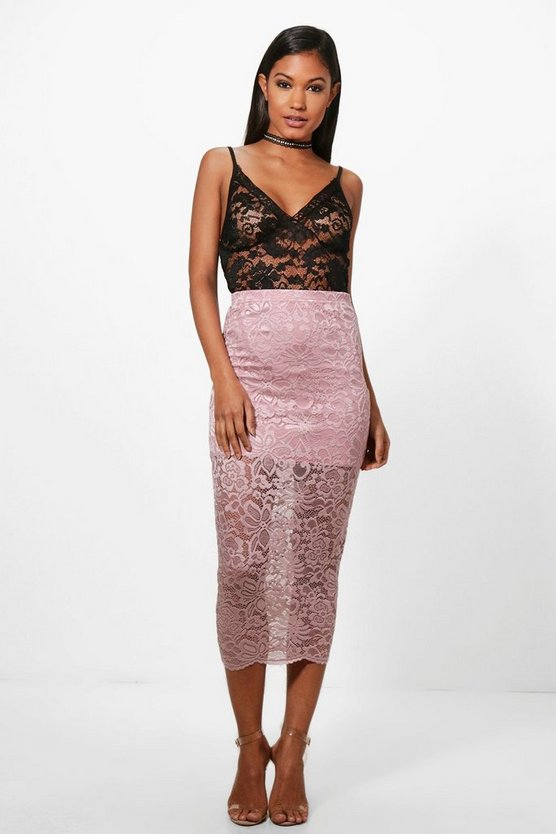 Amber Longer Length Midi Skirt