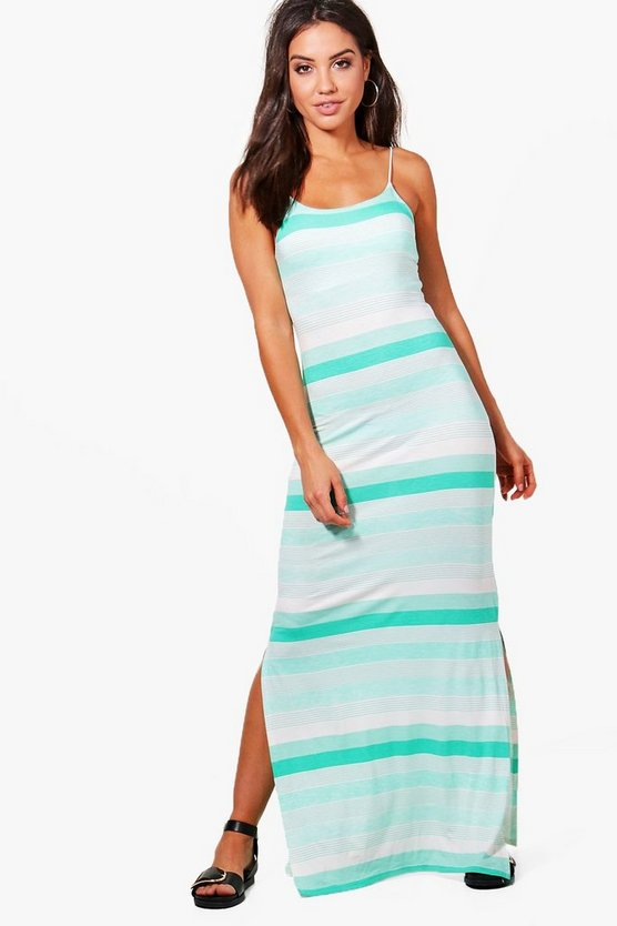 Mona Variated Stripe Maxi Dress