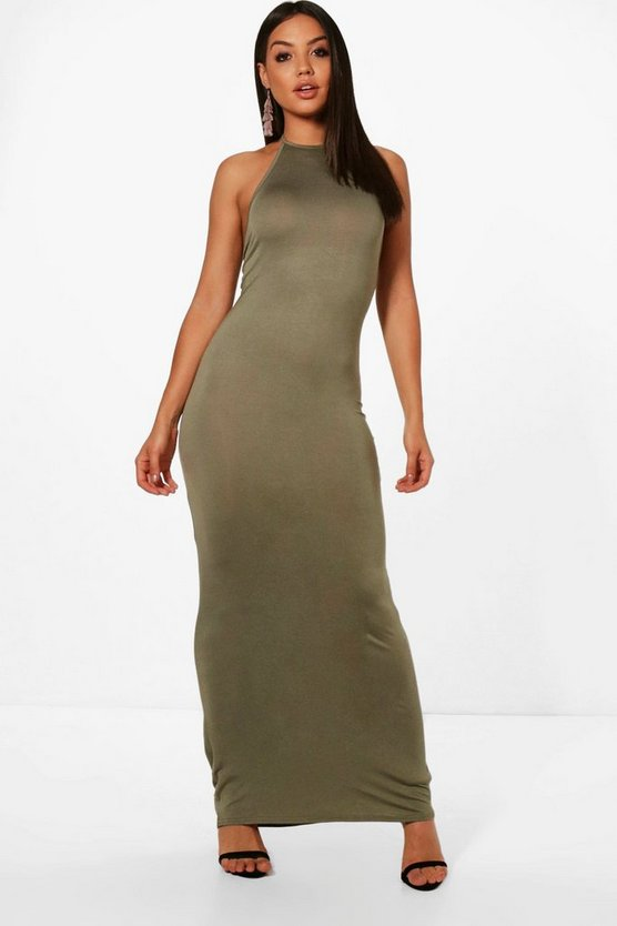 Bella Halterneck Bodycon Maxi Dress