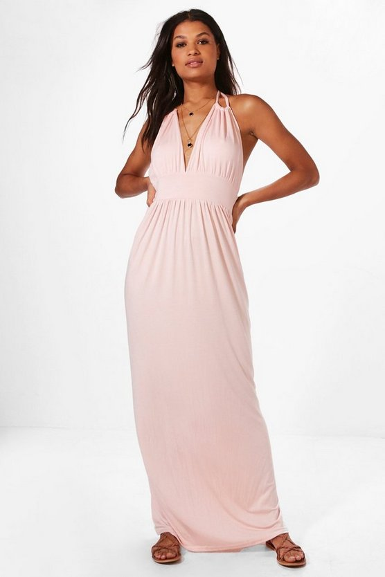 Annabel Halterneck Maxi Dress