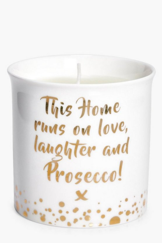 This Home Prosecco Floral Candle