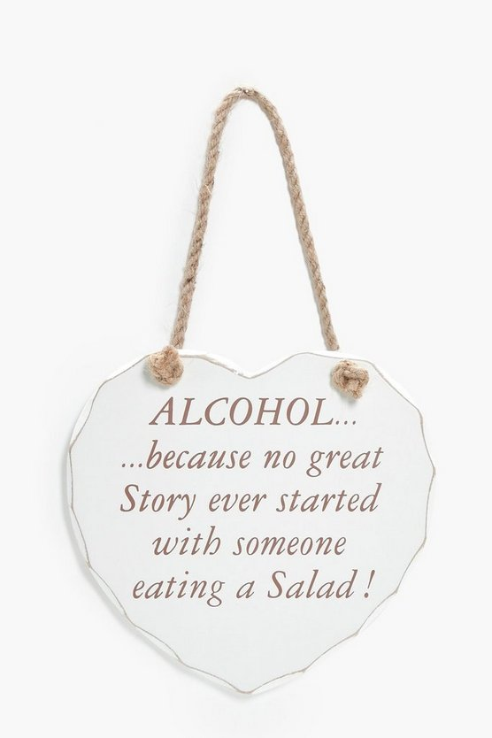 No Great Story Started Wooden Plaque