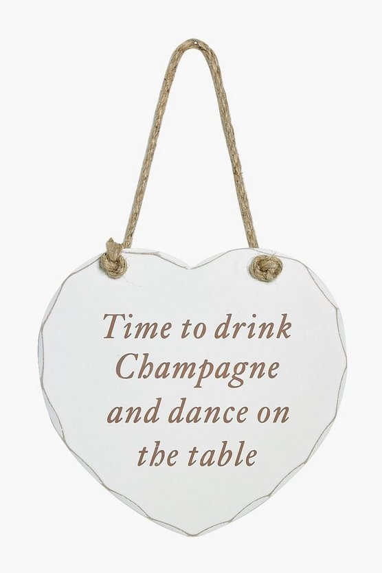 Champagne Dancing Wooden Plaque