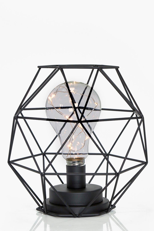 Hexagon LED Lamp - black