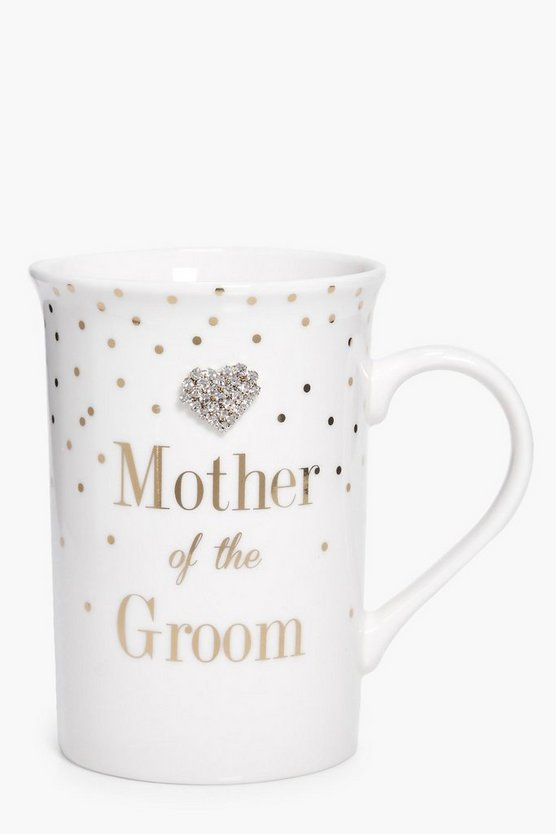 Mother Of The Groom Diamante Mug