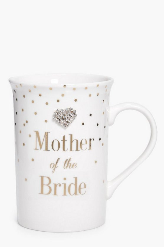 Mother Of The Bride Diamante Mug