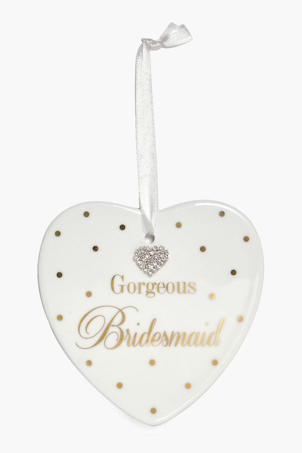Bridesmaid Plaque - ivory