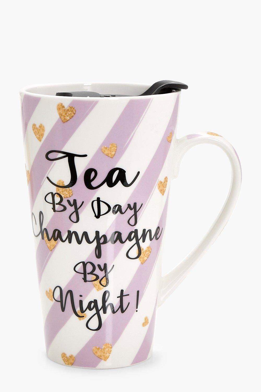 & Champagne Travel Mug - lilac