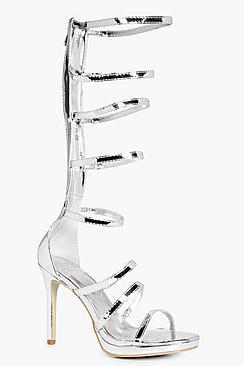 anna sandali da gladiatore con tacco alti al ginocchio