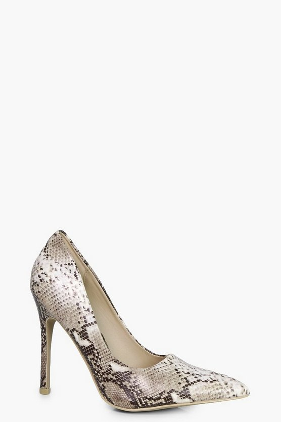 Ellie Snake Court Shoes