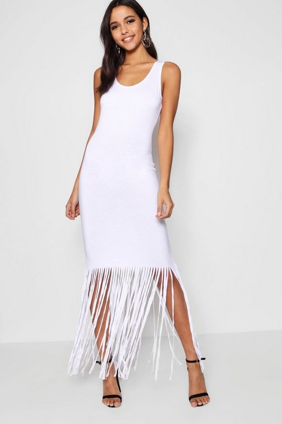 Ava Tassel Sleeveless Maxi Dress