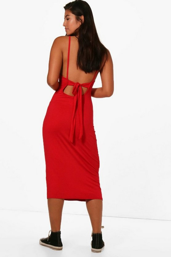 Harriet Low Back Tie Midi Dress