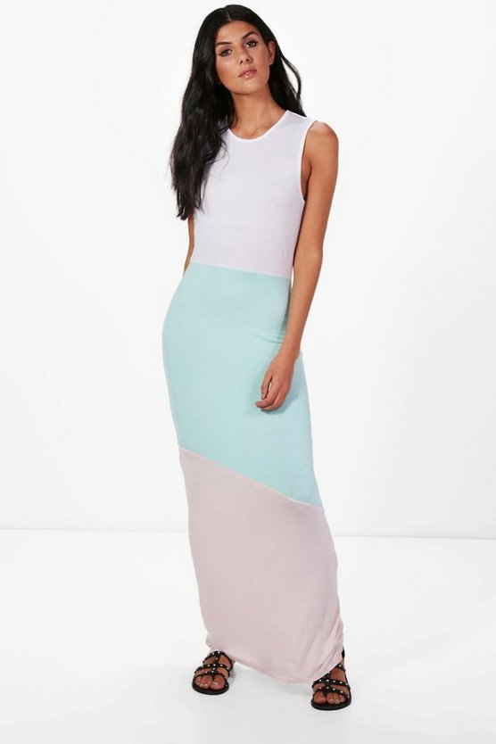 Darcey Colour Block Maxi Dress