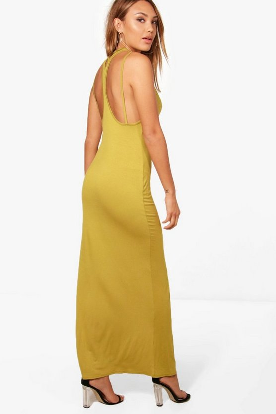 Frances Split Strappy Back Maxi Dress
