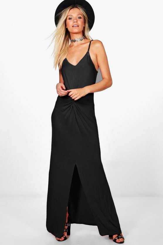 Sally Knot Ruched Maxi Dress