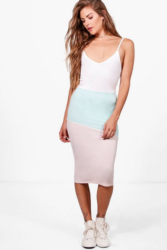 Daisy Colour Block Midi Dress