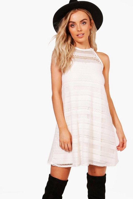 Sarah Halterneck Crochet Swing Dress