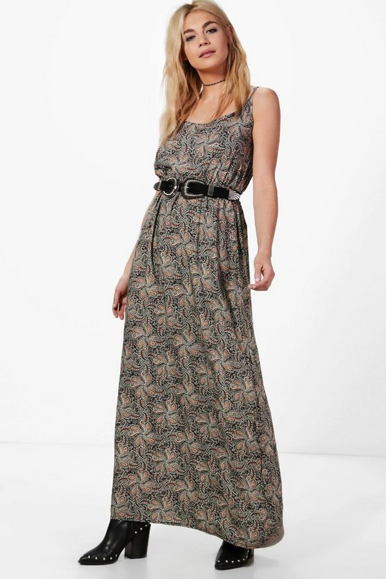 Molly Paisley Print Maxi Dress