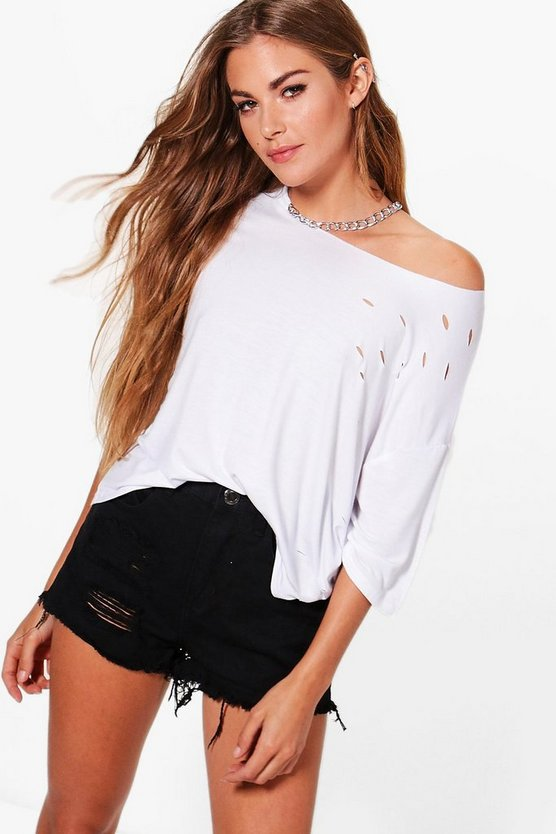 Clare Chain Detail Choker T-Shirt