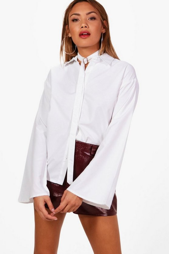 Grace Choker Detail Wide Sleeve Shirt